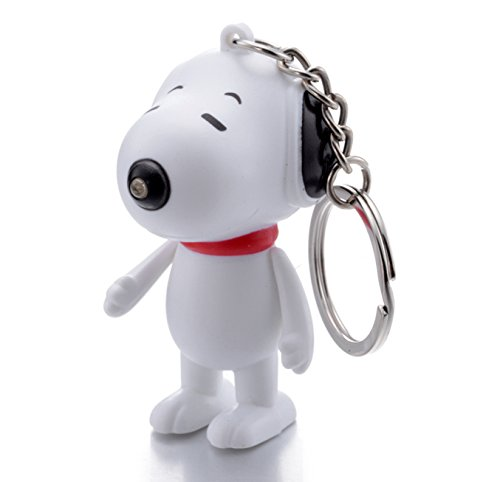 REINDEAR Snoopy LED Flashlight Keychain w/ Sound (Barks) US Seller