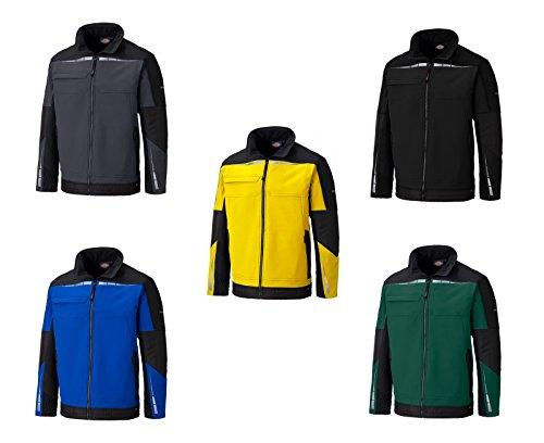 Dickies PRO Softshell Jacke DP1001,optimale Passform, 8000mm Wasseräule, Cordura Technologie, YKK-Reißverschlüsse (M, Schwarz)