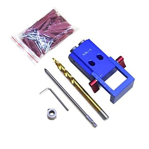 Lixiaonmkop -Stil-Taschenloch-Jig-Kit-System für Holz-Arbeit & Tischlerei und -schritt-Bohrer & Zubehör Holzarbeit Werkzeug PH2-Schraubendreher (Color : B)