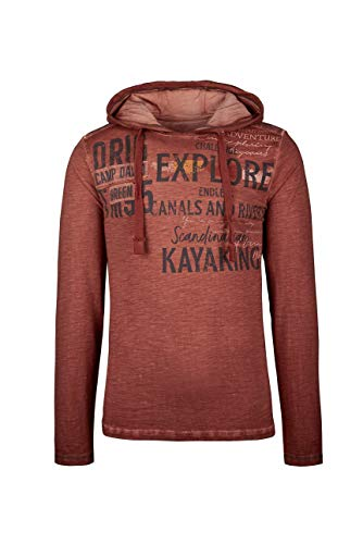 Camp David Herren Kapuzenshirt mit Vintage-Färbung