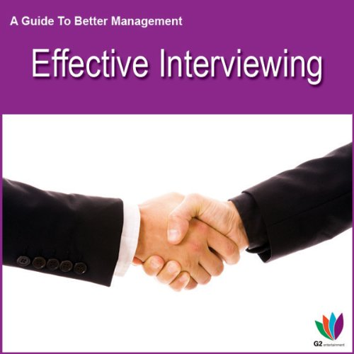 Effective Interviewing audiobook cover art