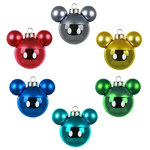 Hallmark Keepsake Christmas Ornaments 2020, Disney Mickey Mouse, Glass, Set of 6
