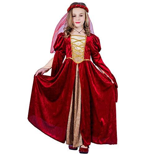 SEA HARE Vestido de Princesa de Niña Renacentista Medieval (L:10-12 años)