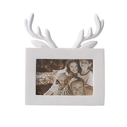 Marco De Fotos Personalidad Marcos De Fotos Adornos De Resina Astas Creativas Marco De Fotos áRbol De Navidad...