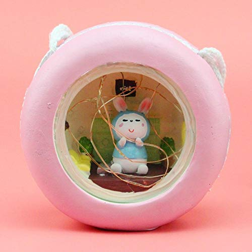 Home decoration ornaments Angel couple star lights Student desktop gifts@AC003 honey rabbit * powder outer ring_Star light