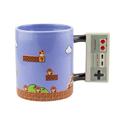 Paladone Nintendo Tasse NES Controller Super Mario blau, Bedruckt, aus 100% Keramik, Fassungsvermögen ca. 315 ml.