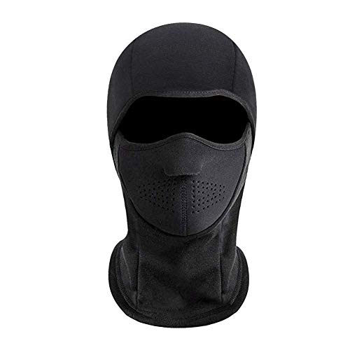 Joyoldelf Winter Balaclava Ski Mask, Fleece Windproof Motorcycle Face Warmer (Black)