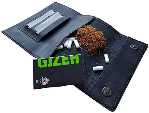 Borsa di tabacco sacchetto di tabacco Dreher BORSA ASTUCCIO Tabacco LEAS in Vera Pelle Marrone