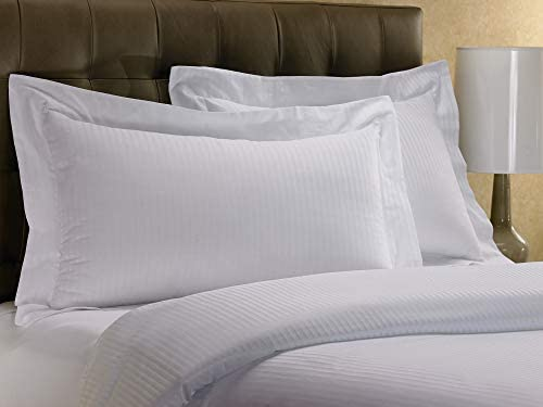 "Westin Hotel Pillow Sham - 1 Classic Pillow Sham - White with Signature Micro-Stripe Pattern - King (20"" x 36"")"