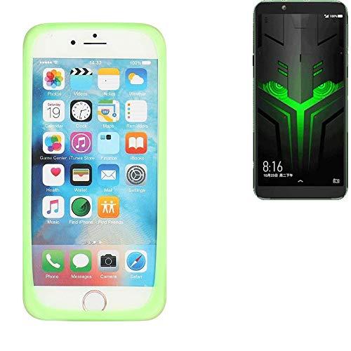 K-S-Trade® Für Xiaomi Blackshark Helo Silikonbumper/Bumper Aus TPU, Grün Schutzrahmen Schutzring Smartphone Case Hülle Schutzhülle Für Xiaomi Blackshark Helo