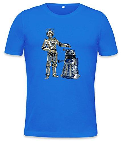 Robots Mens T-shirt, Blu, L