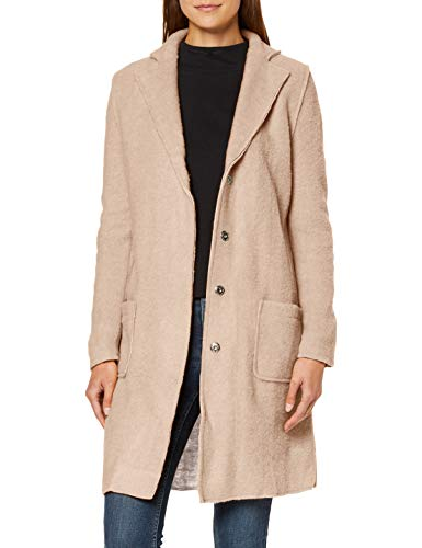 Mavi Damen Long Sleeve Cardigan Mantel, Beige (Oatmeal Melange 27162), Small