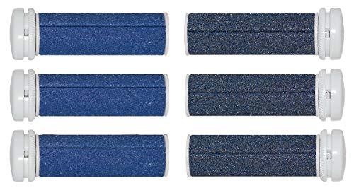 Micro Pedi Ersatzrollen MPREF Rollen 3 x 2er grau und blau fuer MP Lady, MP Curamed, MP Nano, etc,