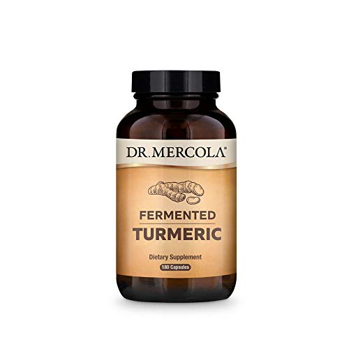 Dr. Mercola Organic Fermented Turmeric Dietary Supplement, 90 Servings (180 Tablets), Non GMO, Gluten Free, Soy Free