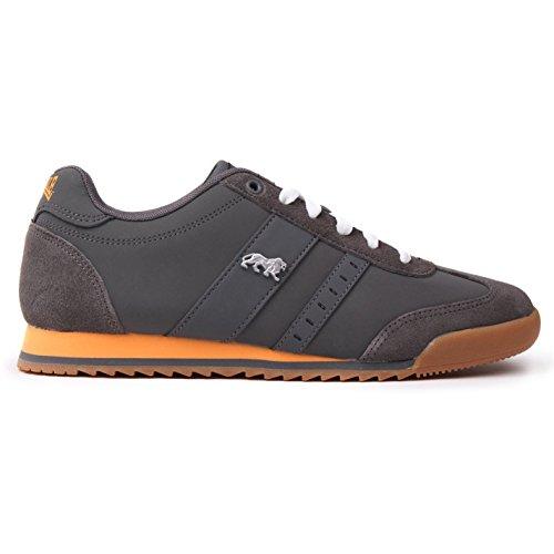 Lonsdale Herren Lambo Turnschuhe Freizeit Sneaker Schnuerschuhe Sport Schuhe Grau 12 (46)