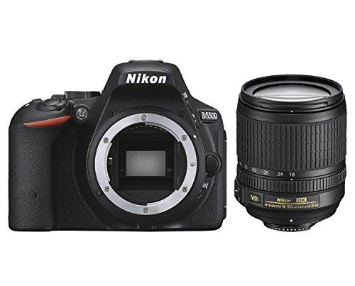 Nikon D5500 + AF-S DX 18-105 VR Juego de cámara SLR 24,2 MP CMOS 6000 x 4000 Pixeles Negro - Cámara Digital (24,2 MP, 6000 x 4000 Pixeles, CMOS, Full HD, Pantalla táctil, Negro)