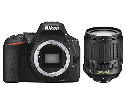 Nikon D5500 SLR-Digitalkamera (24,2 Megapixel, 8,1 cm (3,2 Zoll) Touchscreen-Display, 39 AF-Messfelder, ISO 100-25.600, Full-HD-Video, Wi-Fi, HDMI) Kit inkl. DX 18-105 mm VR Objektiv schwarz