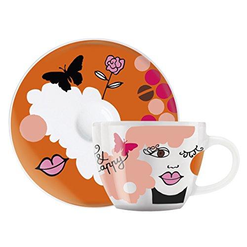 Ritzenhoff Espressotasse, Porzellan, Mehrfarbig