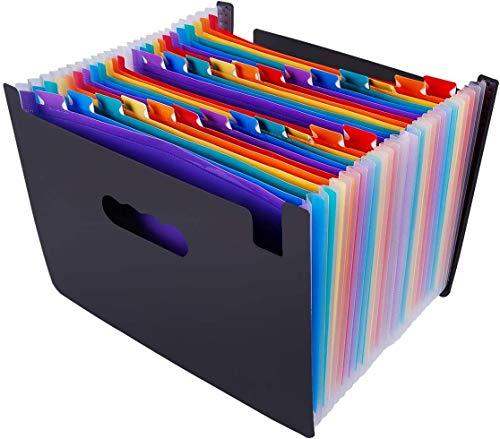 Erweitern des Datei-Organizers, Ordner mit 12 Taschen, A4-Dateien, Akkordeon-Dokumentrechnung, Papierkram, Aufbewahrungsmappen für den Schreibtisch mit farbiger Registerkarte