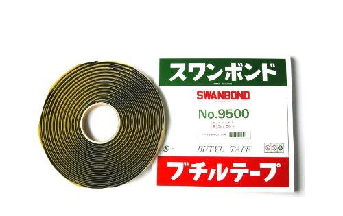 タカダ化学品製造 ( TAKADA ) ブチルテープ 【スワンボンド】 ロープシーラー 5mm×5M巻 9500