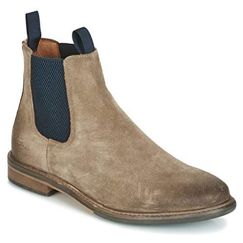 Schmoove Boots élastique à la Cheville Pilot Chelsea Suede Taupe