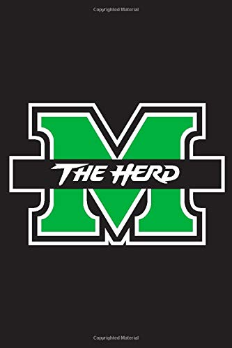 Marshall Thundering Herd Notebook: Minimalist Composition Book | 100 pages | 6