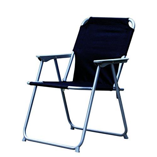 Praktisch und Gut. Campingstuhl Faltstuhl Stoff Schwarz Camping-Klappstuhl Anglerstuhl Regiestuhl Angelstuhl Metall