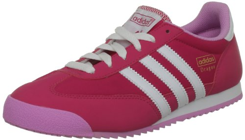 adidas Dragon J, Sneaker Bambini Rosso Ros Cl/Blanc/Orcsup 36
