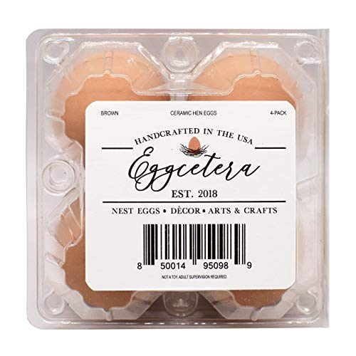 Eggcetera Ceramic Nest Eggs 4-Pack (Brown)