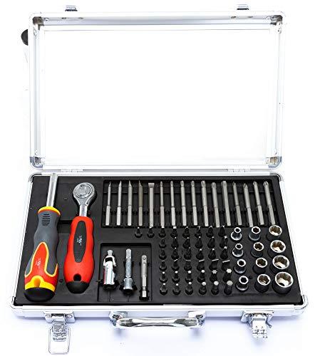 TrendLine Werkzeug-Set Werkzeugkoffer Werkzeug 71 tlg Bits Ratsche