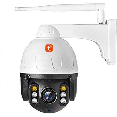 Cámara IP WIFI, cámara PTZ domo de velocidad de seguridad de seguimiento automático impermeable al aire libre, vigilancia CCTV de visión nocturna 1080P,Camera + 32g card