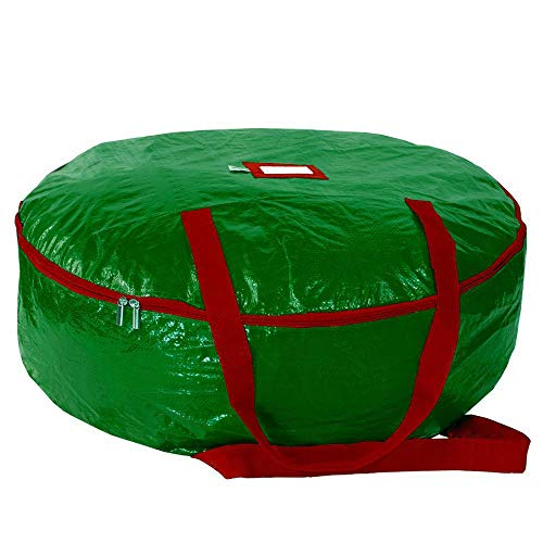 Premium Quality Christmas Tree Storage Bag - Fits Trees Up to 9 Feet Tall, Water & Tear Resistant Material (Green, 30 inch Wreath)