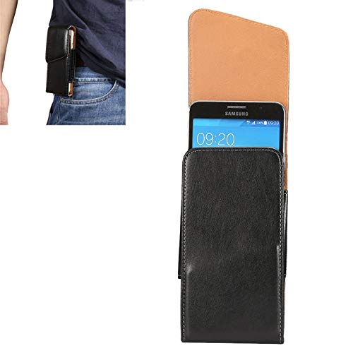 LICHONGGUI Teléfono protector 6,3 pulgadas Universalfunda de cuero de flip vertical de textura de piel de cordero/ Bolso de cintura con férula trasera giratoria for Samsung Galaxy Mega 6.3 / i9200 /