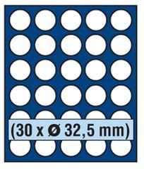 SAFE 6332 TABLEAUS NOVA exquisite 30 x 32,5 mm RUNDE FÄCHER - IDEAL FÜR 10 EURO / 10 DM / 10 MARK DDR & MÜNZEN BIS 32,5 mm - PASST FÜR NOVA - NOVA EXQUISITE - HOLZ KASSETTEN 5883 – WURZELHOLZ KASSETTEN 5883 - MÜNZKOFFER 176 - 172 - 173 - 174 - 175 - 177 - 179 - 276