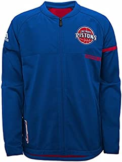 adidas Detroit Pistons NBA Blue 2016-17 Authentic On-Court Team Issued Pro Cut Warm Up Jacket for Men