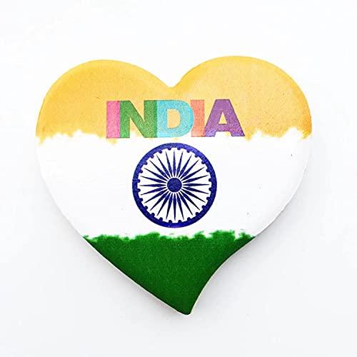 Weekino Flagge von Neu-Delhi Indien Kühlschrankmagnet 3D Polyresin Touristische Stadtreise City Souvenir Collection Geschenk Starker Kühlschrank Aufkleber