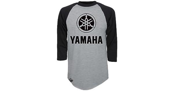 Heather Gray//Black, X-Large Factory Effex 17-87226 YAMAHA Raglan Baseball Shirt