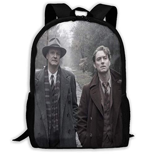 Genius School Bag Pack Daypack Bookbags School Book Shoulder Bag Gym Bags for Women Men,Size 43X28X16Cm