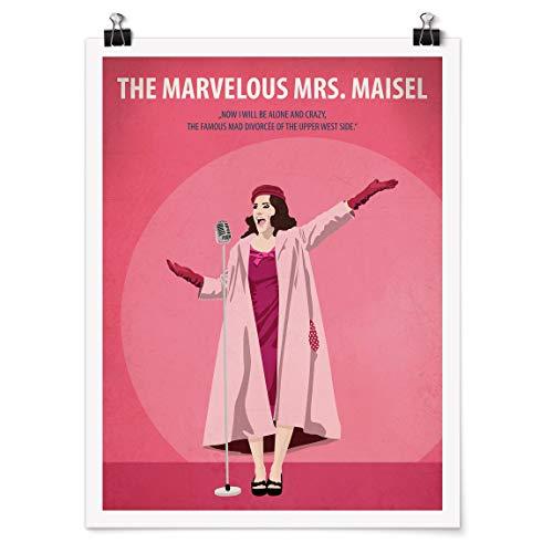 Bilderwelten Poster Filmposter The Marvelous Mrs Maisel Hochformat 4:3 Matt 80x60cm