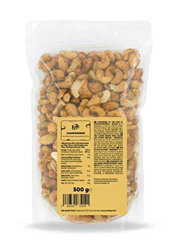 KoRo - Cashewkerne mit Chiligewürz 500 g - Scharfer Snack aus Cashews und Chili Pulver