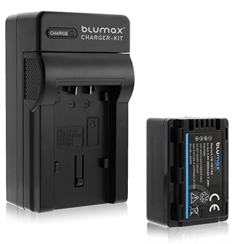 Blumax ersetzt VW-VBT190 2020mAh + Ladegerät VW-VBT190 | passend zu diversen Panasonic Kameramodellen