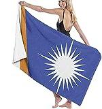 MENYUAN Strandtuch Großes Badetuch Marshallinseln Flagge 3D-Druck Leichte Weiche Resorbierbare Reisetücher Sportbad Waschlappen für Schlafzimmer Schwimmbecken 130x80 cm