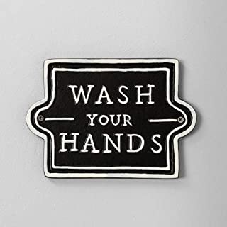 Hearth & Hand with Magnolia Bathroom Wall Sign - Wash Your Hands in Black
