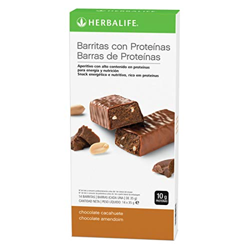 Herbalife - Barritas con Proteínas sabor a Chocolate y Cacahuetes 14 x 35 g
