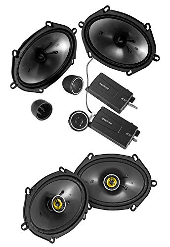 """KICKER 46CSS684 6x8"""" 450w Car Audio Component Speakers+2) CSC68 Coaxial Speakers"""