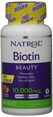 Natrol Biotin 10000 mcg Fast Dissolve (60) Standard, 30 g