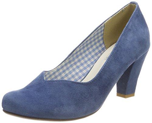 HIRSCHKOGEL Damen 3000507 Pumps, Blau (Jeans), 38 EU