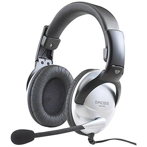 Koss Universal SB45 Over-Ear Gaming Headset Kopfhörer mit Mikrofon - Silber