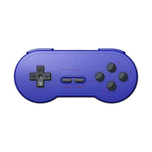 Zhengowen Gamepad Retro Controller BT Gamepad commutateur Jeu Host Téléphonie Informatique Wireless Gamepad (Couleur : Bleu, Size : One Size)