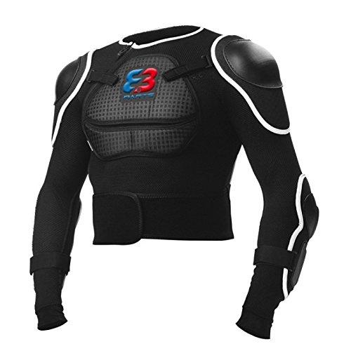 Parts 8.3 NM-608 Veste de Protection VTT Homme, Noir/Blanc, FR : L (Taille Fabricant : L)